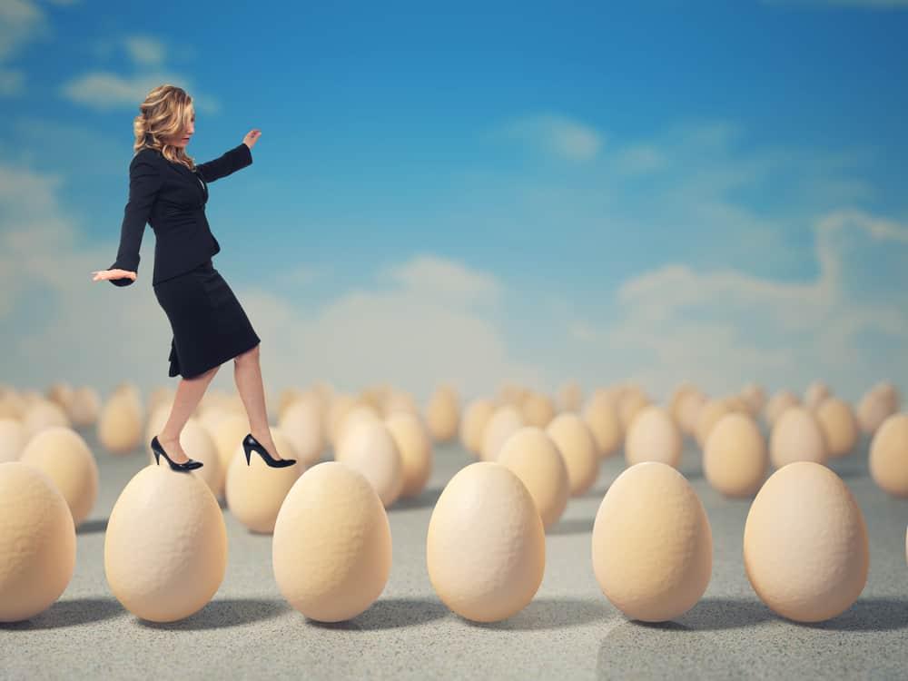 Dating walking on eggshells
